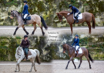 Yorkshire EC Dressage – 15th March 2020